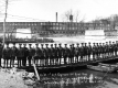 Army Corps of Engineers on their Pontoonbridge Across the Winooski River