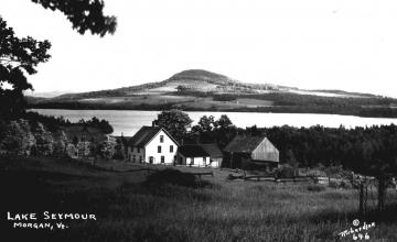 Looking Across Lake Seymour at Elan Hill