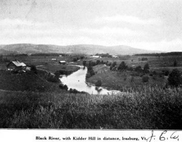Black River With Kidder Hill in the Distance