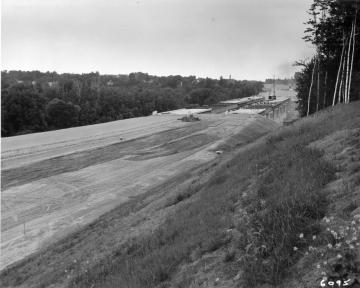 Looking north on I-89 in construction