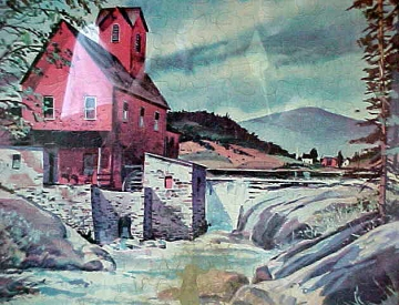 A Puzzle Depicting the Red Mill