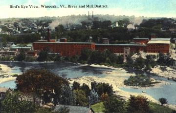 Mill District along Winooski River