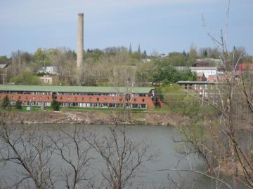 Birds Eye view of Winooski River and Mills