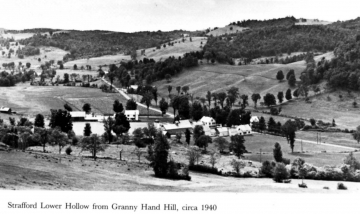 Bird's eye view of Lower Hollow