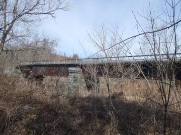 Abandoned Railroad Bridge over the Lamoille River
