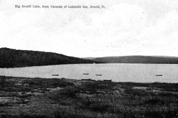 Big Averill Lake from Veranda of Lakeside Inn
