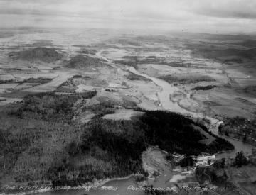 Aerial Photograph of Power House on Lamoille River