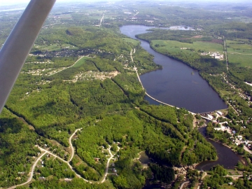 Aerial Photograph of Lamoille River