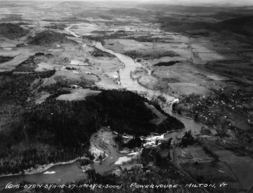 Aerial Photograph of the Lamoille River after Flood