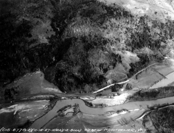 Aerial Photograph of the Winooski River after Flood