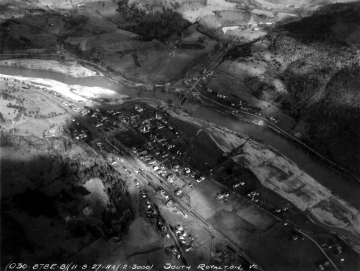 Aerial Photograph of the White River including South Royalton