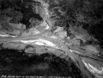 Aerial Photograph of the Winooski River and Little River after Flood