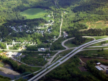 Aerial Photograph of the Winooski River Valley