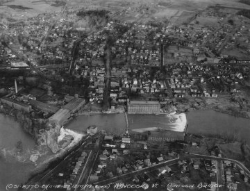 Aerial Photograph of the Winooski River and Mills