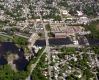 Aerial Photograph of the Winooski River and Town