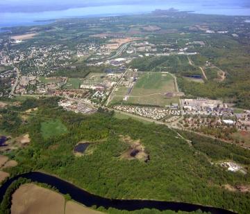 Aerial Photograph of Development near the Winooski River