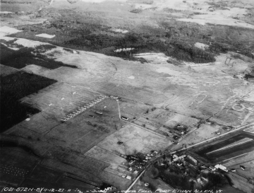 Aerial photograph of Fort Ethan Allen and Fields