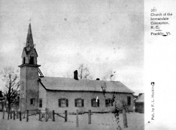 Church of Immaculate Conception in winter