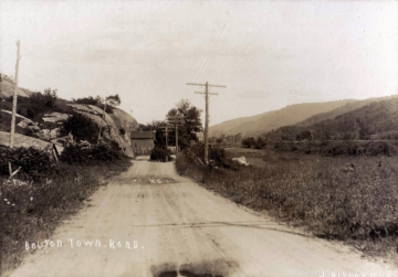 Bolton Town Road with Rock Outcrop
