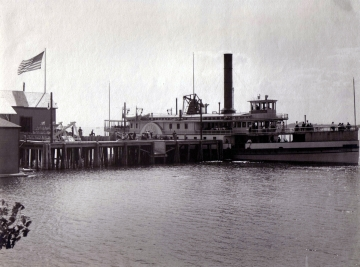 The Steamer Chateagay at Dock