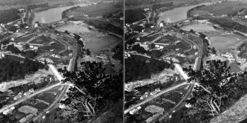 Aerial View of Bellows Falls