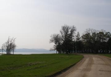 A Dirt Road And Lake Champlain On Shelburne Farm