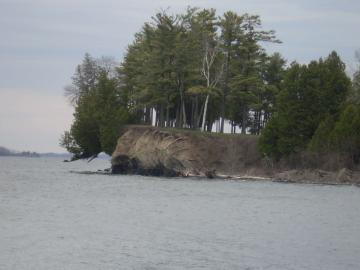 Cliff by Lake Champlain at Shelburne Farms