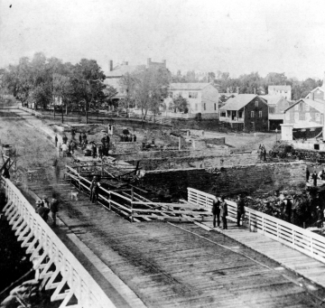 Bridge Repair After 1891 Fire