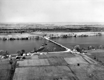 Aerial of Bridge Construction