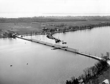 Aerial of Bridge Construction
