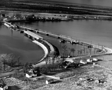 Aerial Photograph of Bridge Construction