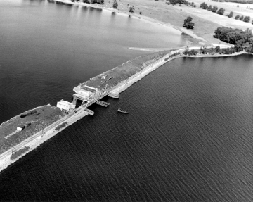 Aerial Photograph of Drawbridge