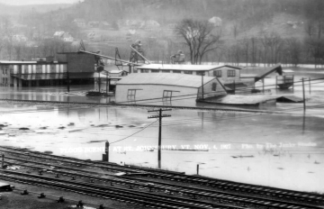 1927 Flood and Railroad Tracks, St. Johnsbury