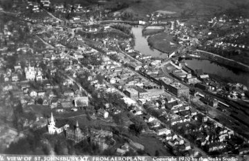 Aerial of St. Johnsbury