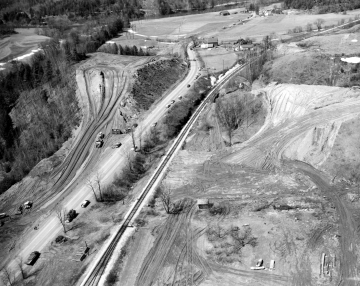 Aerial Photo of Interstate Construction