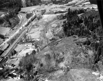 Aerial View of Interstate Construction