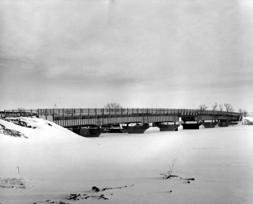 Alburg Bridge under Snow