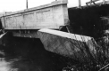 Cement bridge damaged
