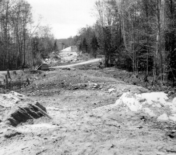 Beginning Road Construction through the Woods