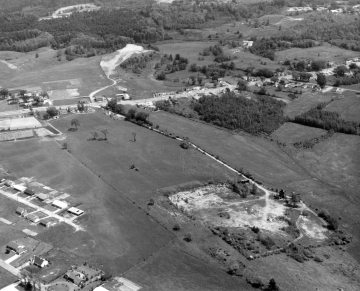 Aerial Image at beginning of Interstate Construction