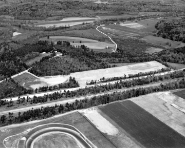 Aerial of Farm Fields and Interstate 89