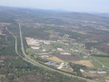 Aerial of I-89 in Colchester