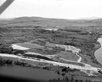 Aerial of Interstate 89 and the Lamoille River