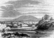 Drawing of River and Mountain
