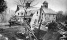 Bulldozer destroys Oakledge barn and garage