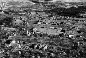 Aerial Photograph of UVM Campus and Winooski
