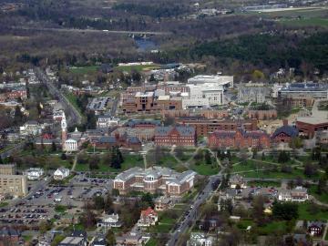 Aerial of UVM Central Campus