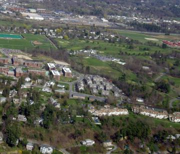 Aerial of Redstone Campus at UVM
