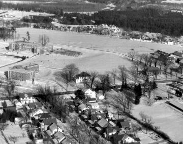 Aerial View of Main Street Looking North East