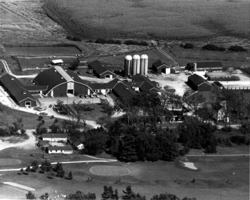 Aerial View of the University of Vermont Barn
